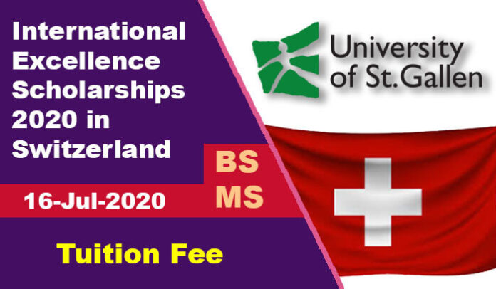 International Excellence Scholarships 2020 in Switzerland