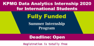 KPMG Data Analytics Internship 2020 for International Students