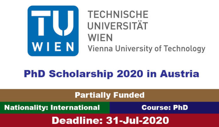 Vienna University of Technology PhD Scholarship 2020 in Austria
