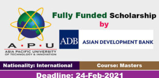 Asian Development Bank Scholarships 2021 in Japan (Fully Funded)