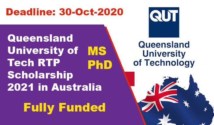 Queensland University of Tech RTP Scholarship 2021 in ...