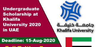 Undergraduate Scholarship at Khalifa University 2020 in UAE