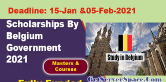 Master & Training Scholarships By Belgium Government 2021 ...