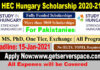 HEC Stipendium Hungaricum Scholarship 2021-22 for Pakistani Students [Fully Funded]