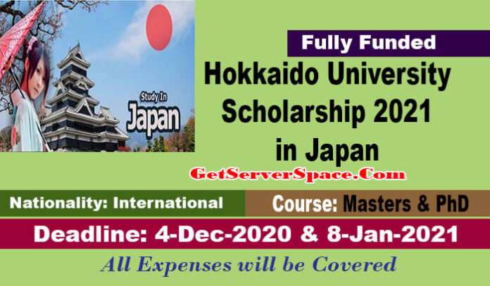 Hokkaido University Scholarship 2021 in Japan For International Students [Fully Funded]