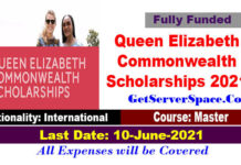 Queen Elizabeth Commonwealth Scholarships for International Students 2021 [Fully Funded]