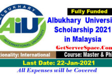 Albukhary International University Scholarship 2021 in Malaysia[Fully Funded]