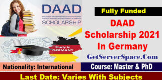 DAAD Scholarship 2021 In Germany for Foreigner Students [Fully Funded]