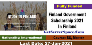 Finland Government Scholarship 2021 In Finland For BS and MS  [Fully Funded]
