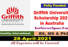 Griffith University International Scholarship 2021 in Australia [Fully Funded]