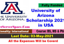 University of Arizona Scholarship 2021 in USA [Fully Funded]