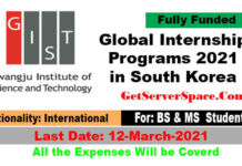 Global Internship Programs 2021 in South Korea Fully Funded]