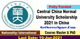 Central China Normal University Scholarship 2021 in China [Fully Funded]