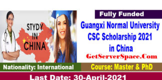 Guangxi Normal University CSC Scholarship 2021 in China [Fully Funded]