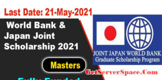 World Bank & Japan Joint Scholarship 2021 for International Students [Fully Funded]