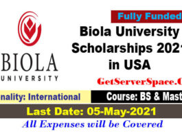 Biola University International Scholarships 2021-22 in USA [Fully Funded]